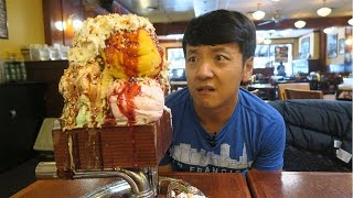 MASSIVE Kitchen Sink ONE GALLON Ice Cream Sundae Challenge
