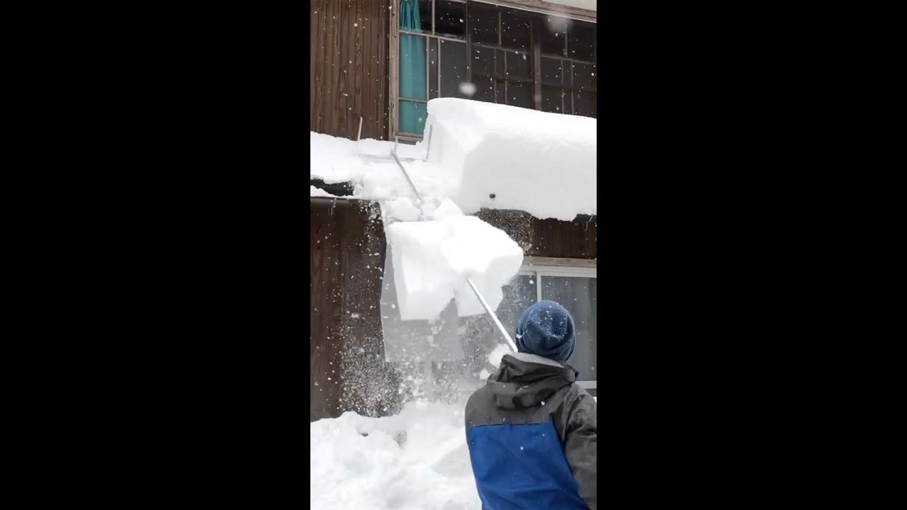 雪下ろしを一気にやる!【らくらく雪すべーる】