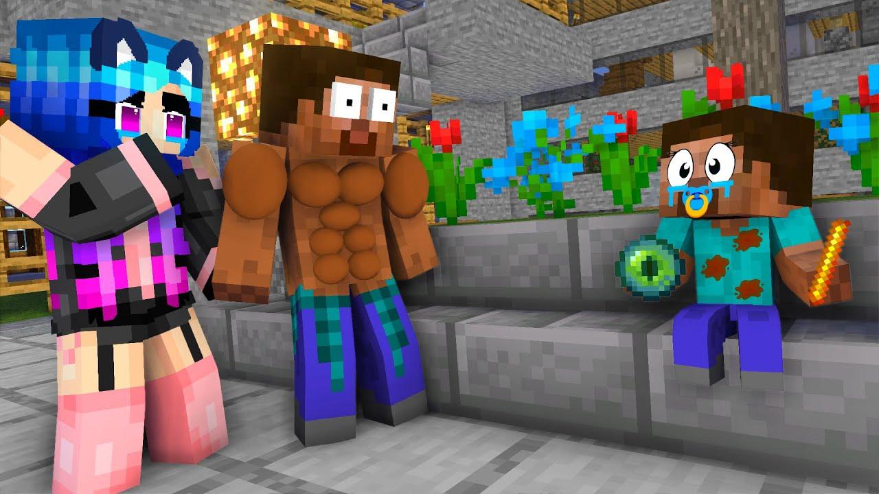 Download MONSTER SCHOOL: EPIC HEROBRINE BABY CHALLENGE - Minecraft Animation