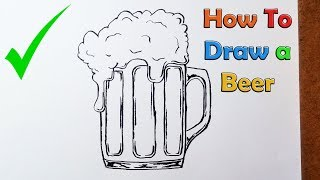 How to Draw a Beer - VERY EASY