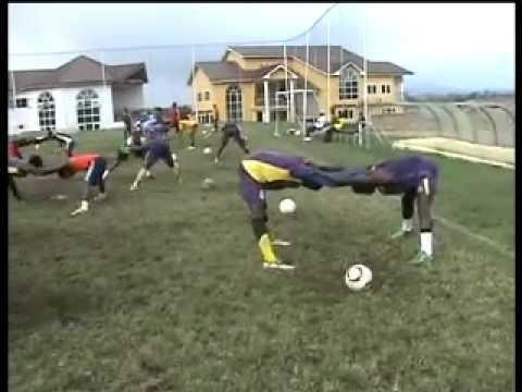 Fatawu, Asamoah, and Eliasu at Unistar Training.