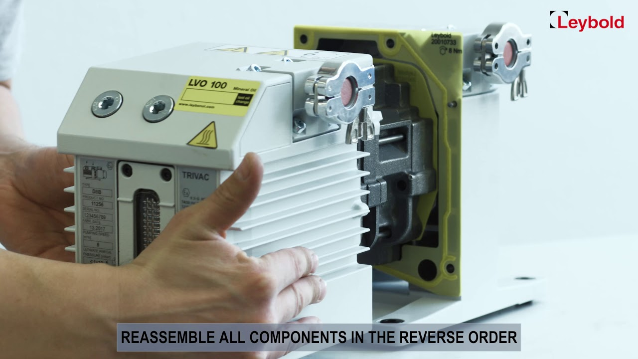 Removing And Fitting Of The Internal Demister Leybold Trivac Components A Circuit Breaker D 8 B