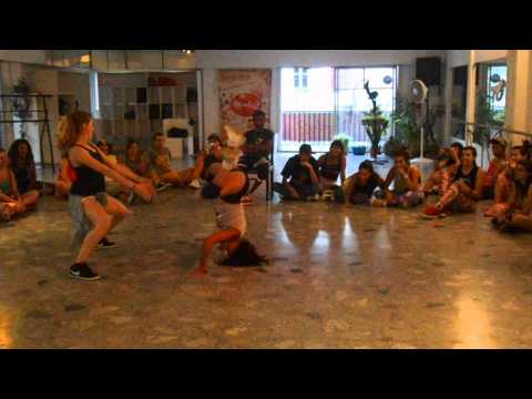 Dancehall battle 2 vs 2 (1 Dancer+1 DHQ) Judge: Nick Black Eagle - Ceci & Wiki (won) vs Ritu & Eli
