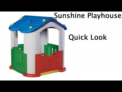 6f8370c9ceed Sunshine Modular Playhouse Children's Indoors & Outdoors Play Pen With Kid's  Slide