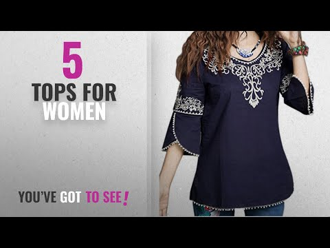 c84904a3ec735 Download Top 10 Tops For Women 2018 Triumphin Blue Women Tunic Short ...