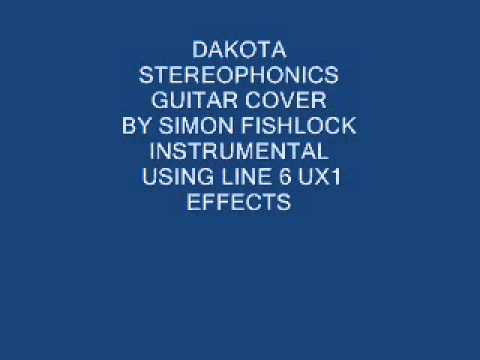 STEREOPHONICS DAKOTA INSTRUMENTAL GUITAR COVER  LIVE