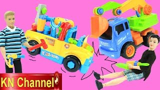 bp b barbie gia đnh lucy tập 52   ngy đầu thử việc lm sửa xe  t tải