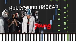 Hollywood Undead - Young [Piano Cover Tutorial] (♫)