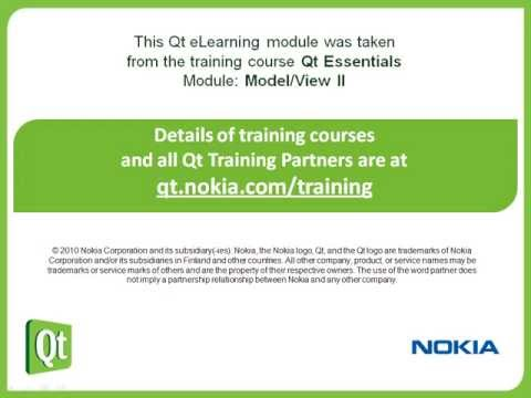 Qt Training: Model/View II (part 3/5): Data Widget Mapper