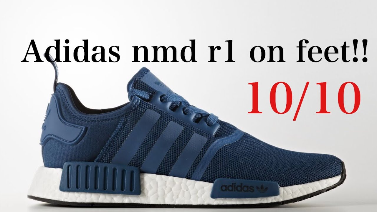 Adidas nmd r1 blue night on feet review - YouTube 8aa724135d92