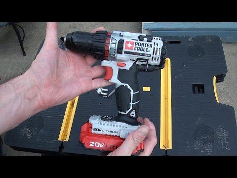 Porter Cable 20 volt cordless drill review - Model PCCK600LB