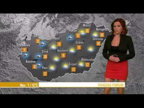 Időjárásjelentés - Gaál Noémi 2014 02 10 ESTE Sexy Hungarian Weather Forecast Girl thumbnail