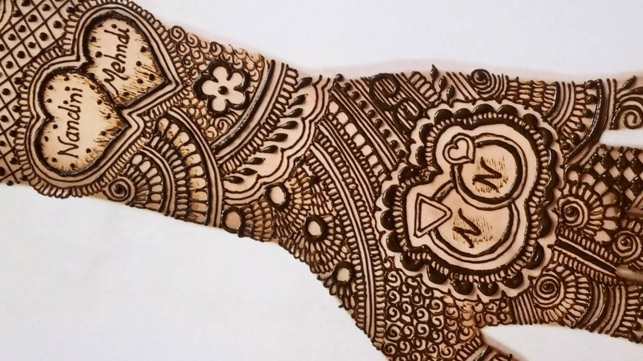engagement ring mehndi design
