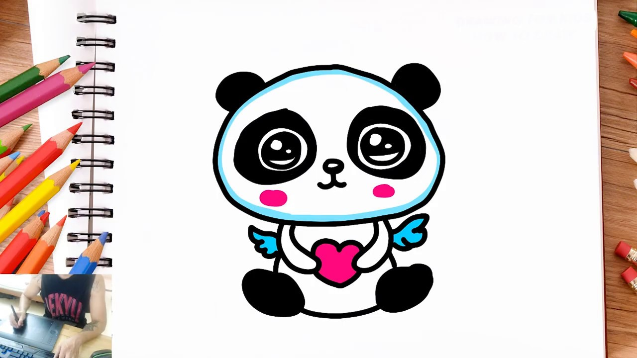 Comment Dessiner Et Coloriage Panda Kawaii Dessin Facile Youtube