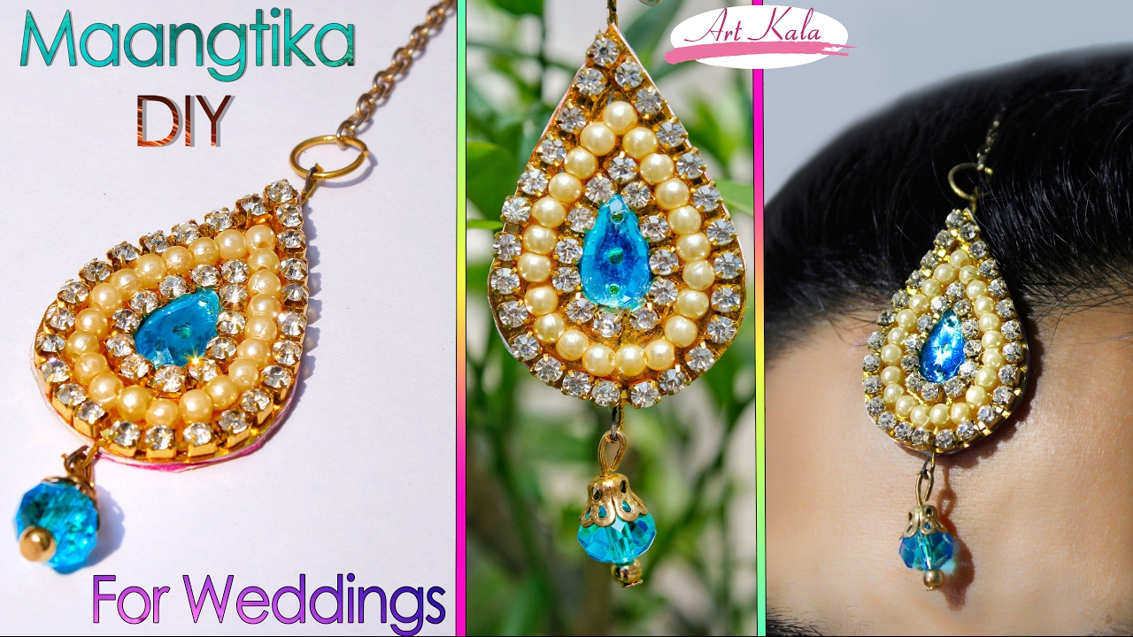 how to make maang tikka at home wedding jewelry easy