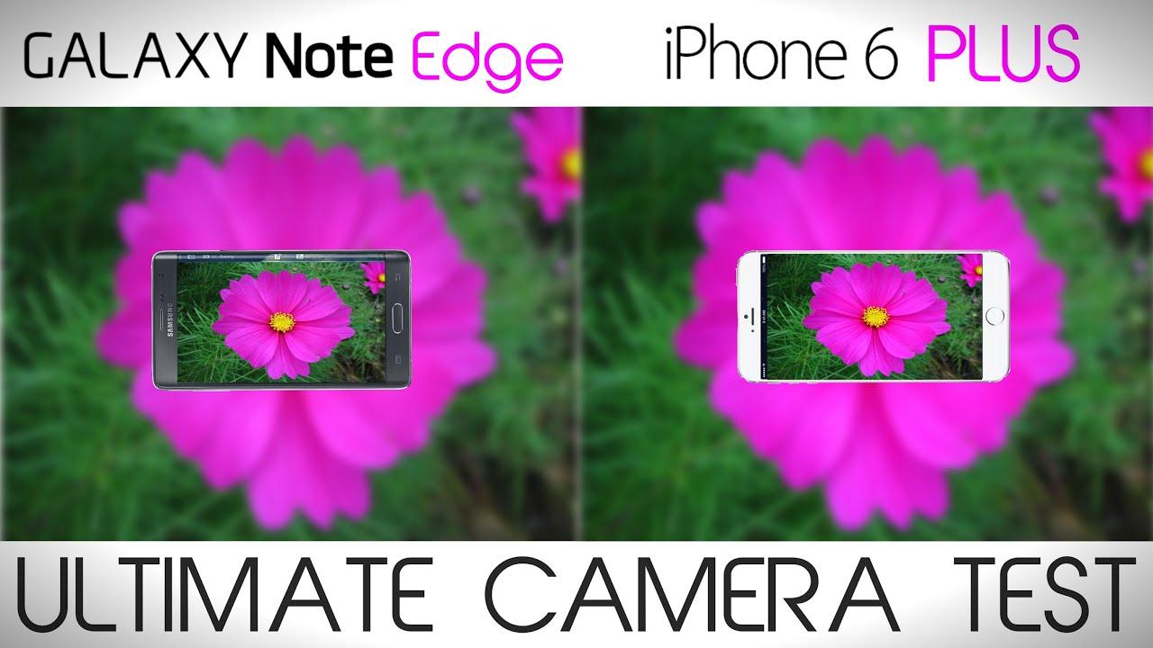 iphone 6 plus vs samsung s7 edge camera