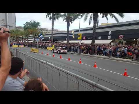 Elfyn Evans - SS13 - Salou ( tarmac ) , Spain, WRC 2017