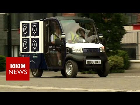 Supermarket trials driverless van deliveries - BBC News