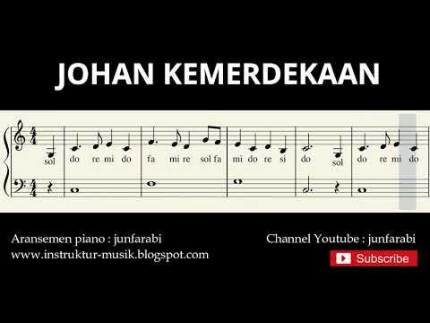 not balok johan kemerdekaan - lagu wajib nasional - doremi / solmisasi