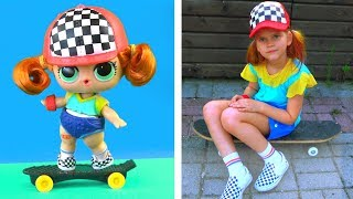 Скейти стала настоящая девочка! Куклы лол в реальной жизни! Мультик лол сюрприз LOL dolls