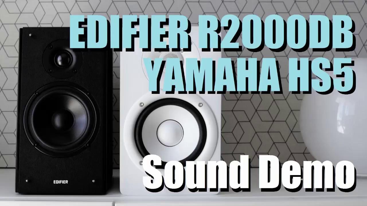 Edifier R2000DB vs Yamaha HS5  ||  Sound Demo w/ Bass Test