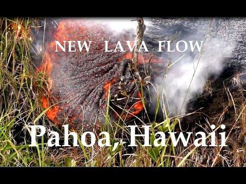 12/19/2014 -- New Hawaii lava flow set to hit Pahoa Marketplace -- Evacuations underway