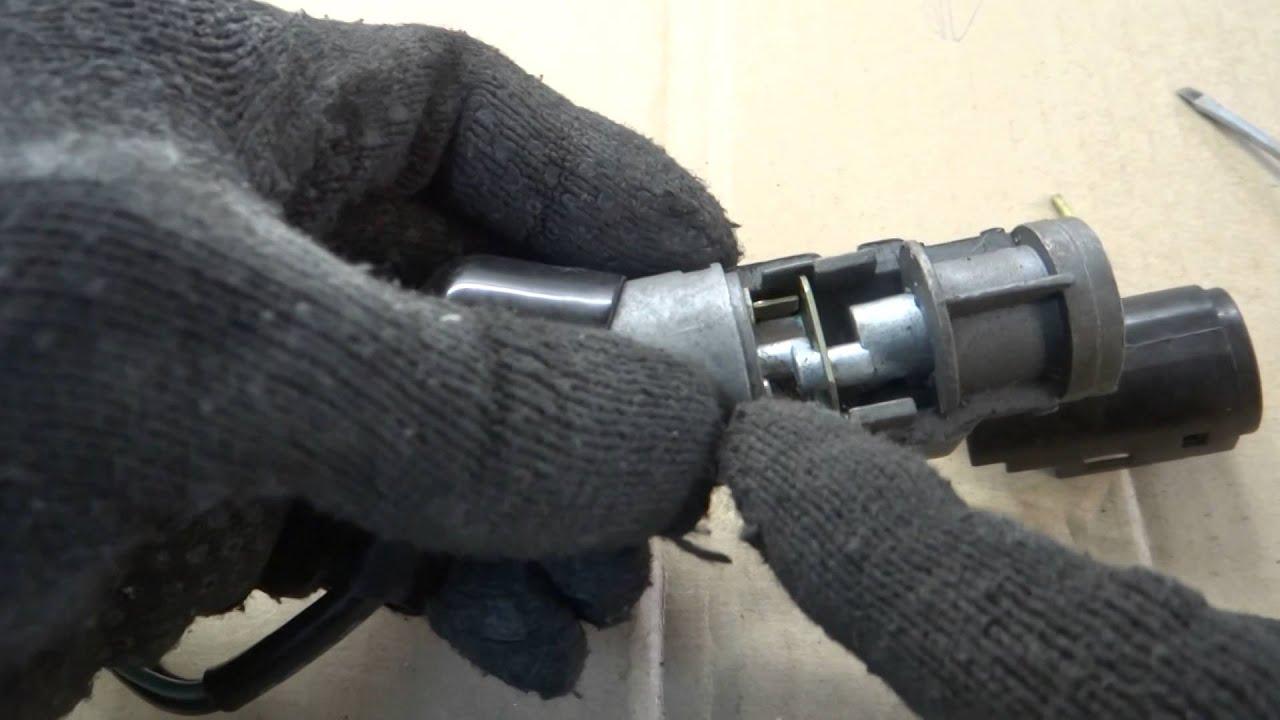 Как разобрать замок зажигания скутера Honda