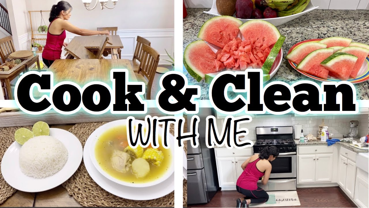 COOK AND CLEAN WITH ME // CLEANING MOTIVATION // SPEED CLEANING