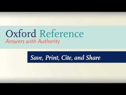 How to Use Oxford Reference