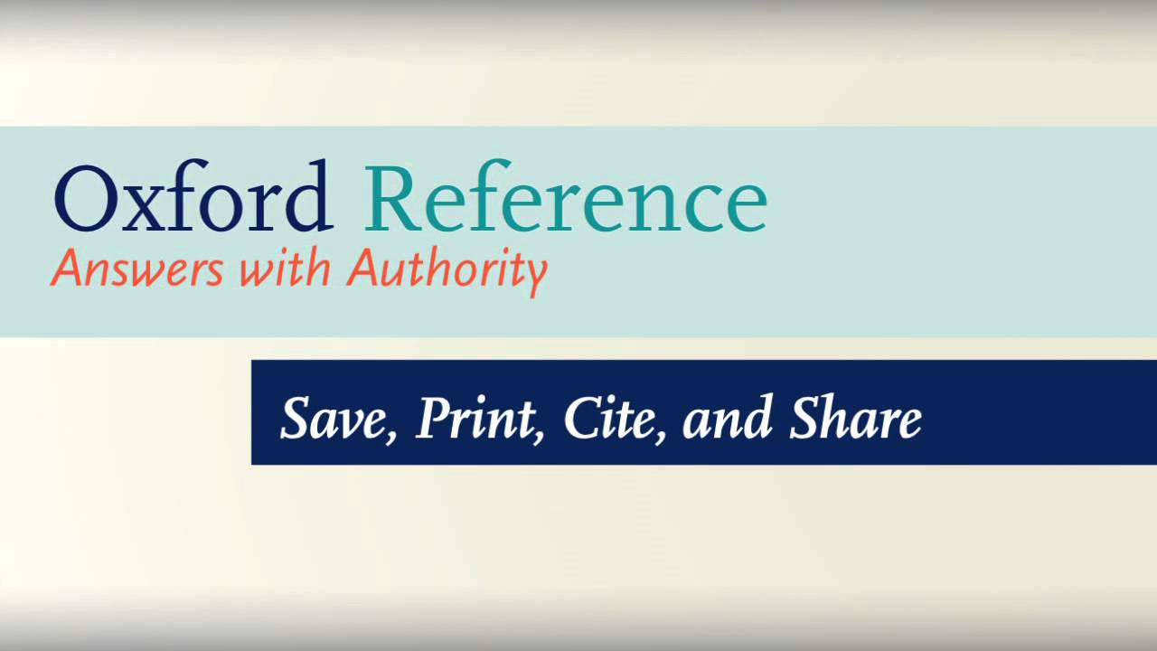 how to use oxford reference how to use oxford reference