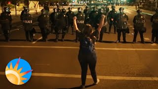 Protesters and police face off in Phoenix during protest over George Floyd's death