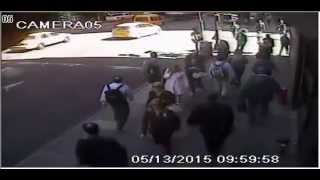 NYPD Video Of Shooting Of Hammer Attack Suspect