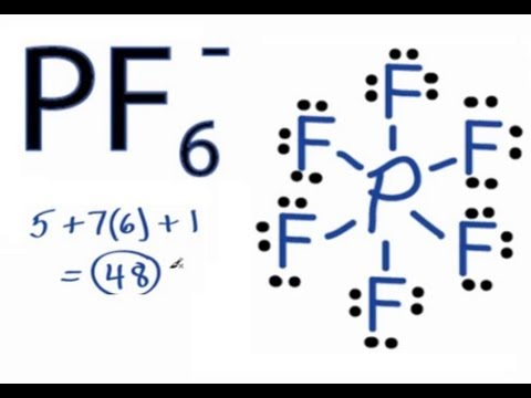 Pf6 Lewis Structure How To Draw The Lewis Structure For