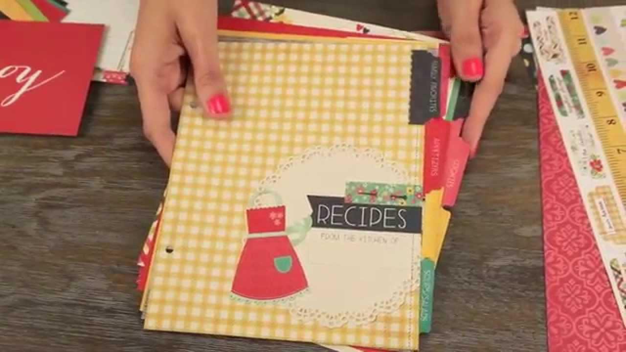 Simple Stories SNAP Homespun Recipe Binder Class Kit