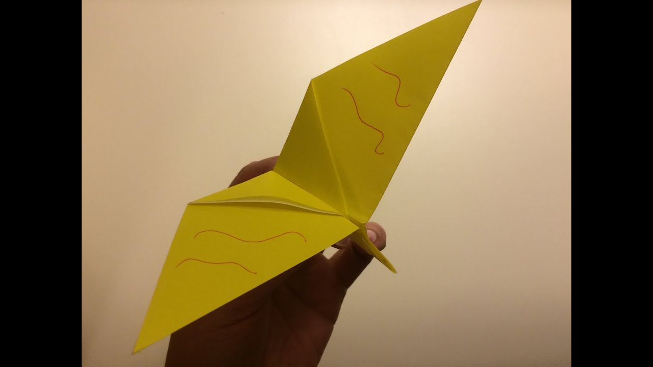 origami for beginners twirling bird youtube
