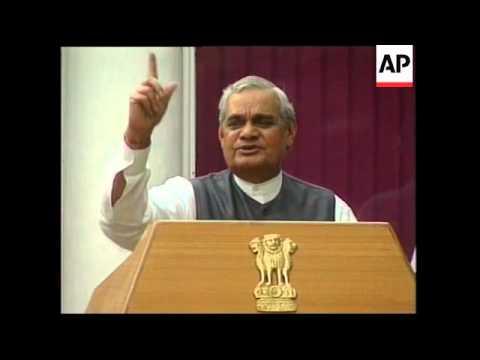INDIA: VAJPAYEE REACTION TO TRAIN CRASH DISASTER