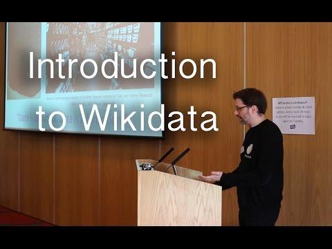 An introduction to Wikidata by Ewan McAndrew | Wikimedia UK