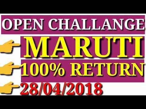 MARUTI SUZUKI MULTIBAGGER TARGET 2018 || OPEN CHALLENGE
