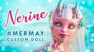 Demon Mermaid Nerine #MERMAY • 17 inch Monster High OOAK • Custom Doll Tutorial