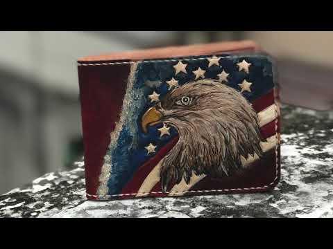 Ví Nam - Họa Tiết Hình Chim ĐẠI BÀNG - Leather Wallet
