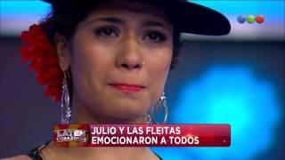 """Familia Fleitas y Julio Silpitucla cantan """"Marinero de luces"""" - Laten corazones"""