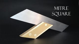 014 Mitre square with micro adjustment for woodworking