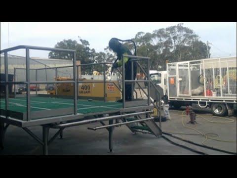 Glass Bead Abrasive Blasting Stainless Steel Platform