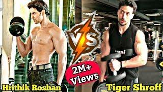 Bollywood Actor Hrithik Roshan vs Tiger Shroff Hard GYM Workout || Special Workout Challenge .