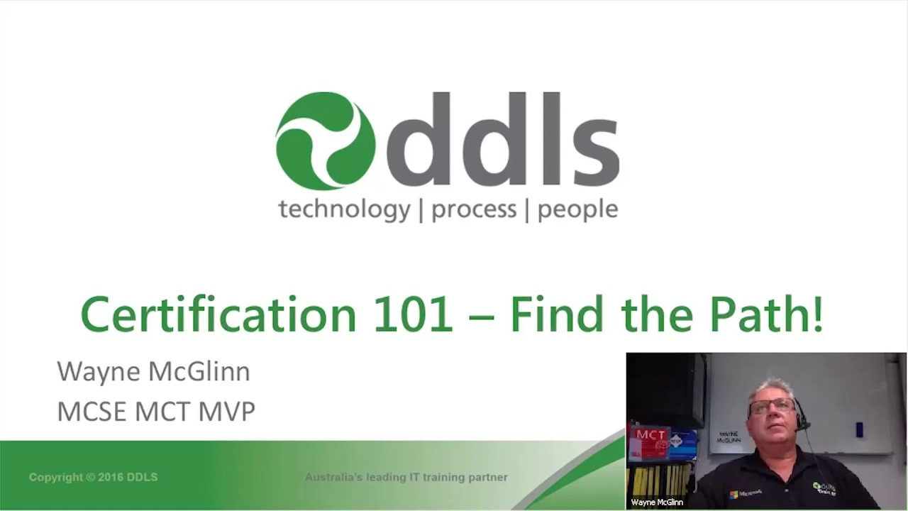 Ddls webinar microsoft certification 101 find the path youtube ddls webinar microsoft certification 101 find the path xflitez Choice Image
