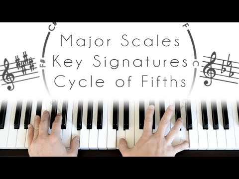 Major Scales, Key Signatures & Cycle of Fifths - Piano Lesson