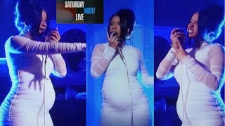 Cardi B Saturday Night Live PREGNANCY REVEAL! Cardi B says  Im FINALLY FREE!