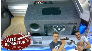 subwoofer reserverad pioneer ts wx610a einbau tutorial hd subwoofer installation install