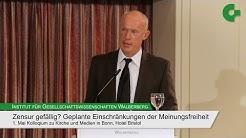 "Joachim Nikolaus Steinhöfel - Kolloquium ""Zensur gefällig?"""