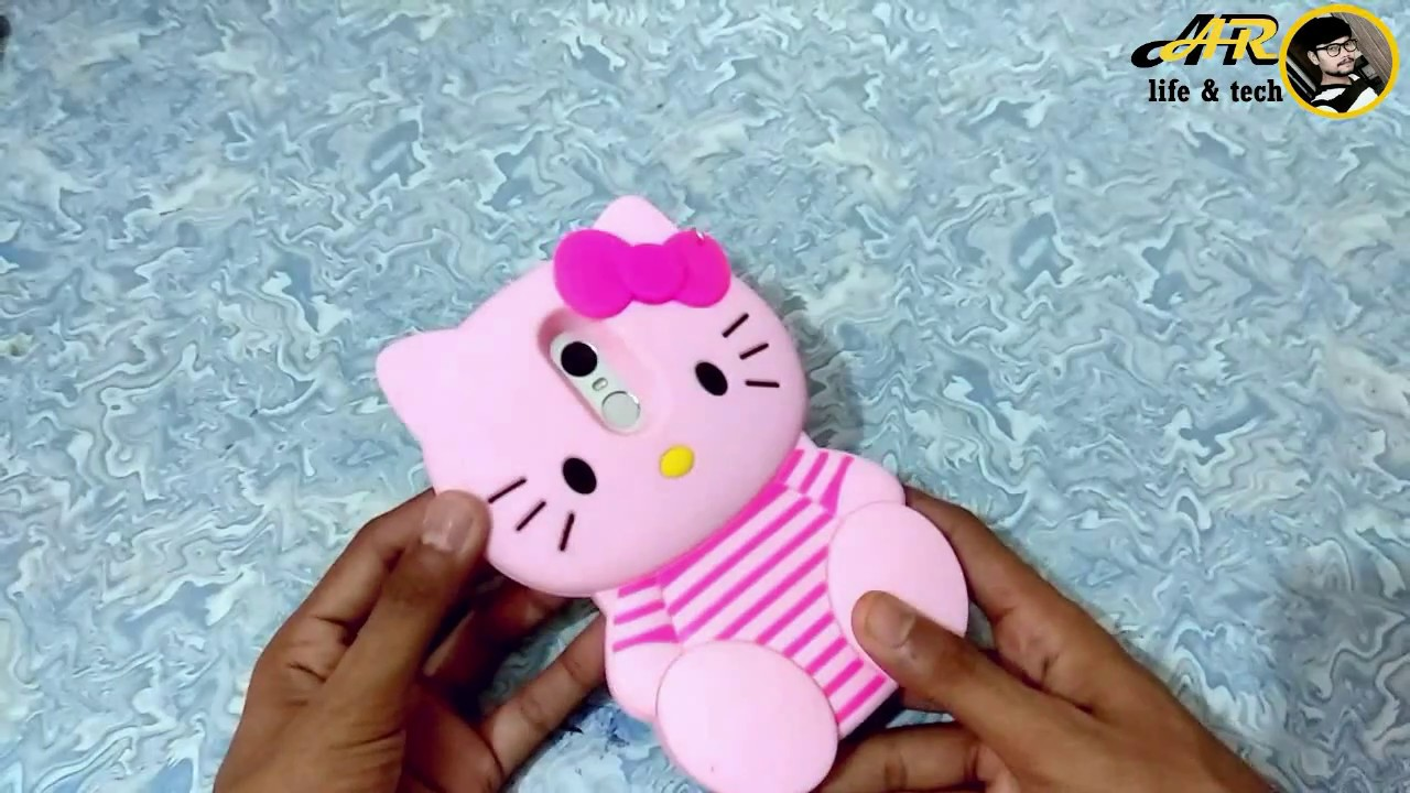 buy online 39f2d 446b6 Best smartphone back cover for ladies HELLO KITTY REDMI NOTE 4